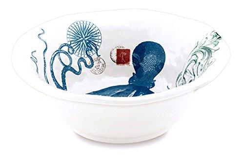 (Michel Design Works Melamine Medium Serving Bowl, Octopus)