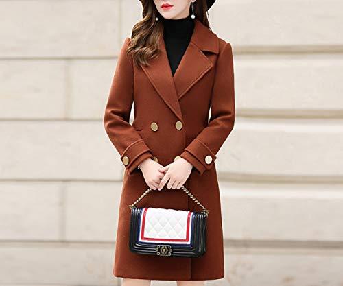 Dames Et D'automne Laine Caramel Longue Dames D'hiver De Automne Chaud Coton Hiver Manteau Femmes D'hiver Mode Ab 8qHSFWn