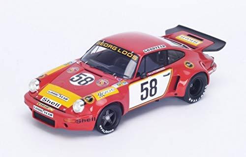 Porsche 911 RSR #58 1975 Lemans 5th John Fitzpatrick, Gijs Van Lennep, Manfred Schurti, Toine Hezemans, Georg Loos 1/18…