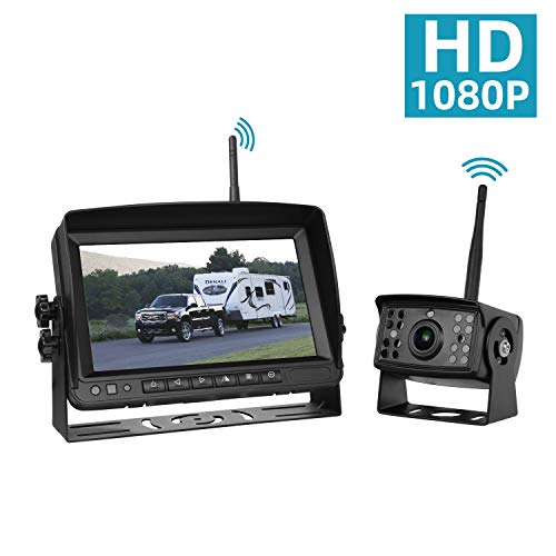 Wireless Backup Camera for Trucks Rv Trailer Camper, Digital Rear View Backup Camera System and Monitor Kit 7 inch, Pickup Reverse Camera IP69 Night Vision (Best Rv Wireless Rear View Camera)