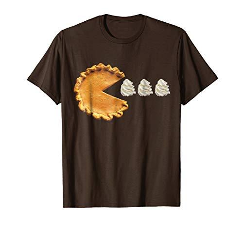 Mens Pumpkin Pie Thanksgiving Shirt XL Brown