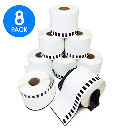 Generic Label Continuous Paper Roll, Compatible w/ Brother DK-2205 2.4 ( 2/3/2007 ) Inches X 100 Feet for Brother P-Touch Q Touch Series Printers 8 Rolls