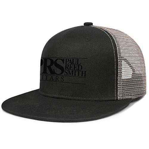 PRS-Guitars-Logo- Black Gray Womens Mens Washed Cap Hat Mesh Baseball Cap Tennis Cap Trucker Hat Golf Bucket Cap Sun Protection Hats
