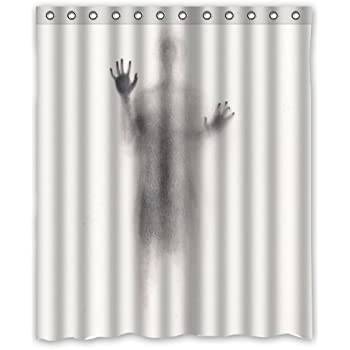 Amazon 72w X 72h Funny Shower Curtain Sexy Woman Shadow