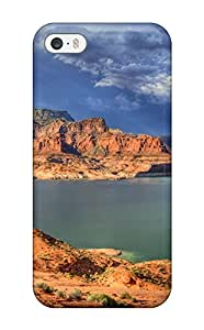 Perfect Tpu Case For Iphone 5/5s/ Anti-scratch Protector Case (earth Mountain)