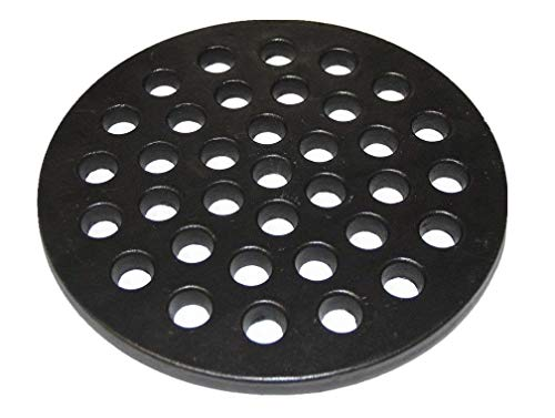 (Hongso PCH09 Cast Iron High Heat Charcoal Fire Grate for Large Minimax Big Green Egg Grill, Big Kamado Joe Grill, BGE, and Other Ceramic Grills, Charcoal Grate Replacement Parts)