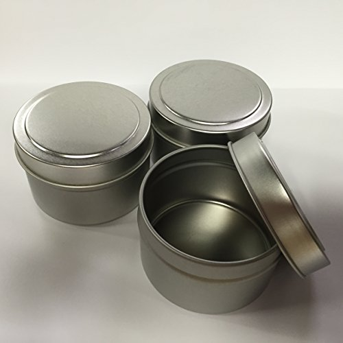 Candlewic Small Candle Tin (4 Oz.), 12 Pieces with Lids by Candlewic