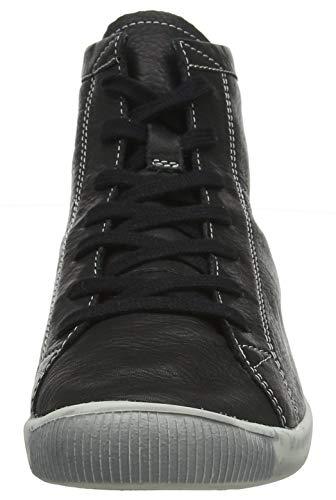 Femme Baskets Noir Isleen black Hautes 028 Softinos TqxtwzP
