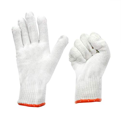 MAXMAN SJWG01 Extra Large White String Knit Cotton/Polyester Work Gloves (Pack of 12 Pairs)