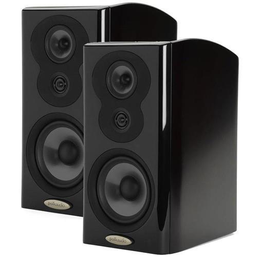 (Polk Audio 2x LSiM703 Bookshelf Loudspeaker, 36Hz-40kHz, Midnight Mahogany)