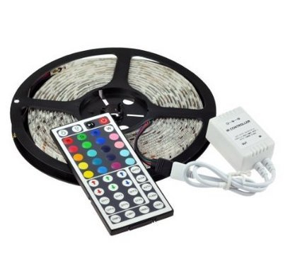 GenLed 5M 16.4Ft RGB 5050SMD 300LED Waterproof Flexible LED Light Strip lamp + 44Key IR Remote (Supports Max 5 meters of RGB LED flexible strips)