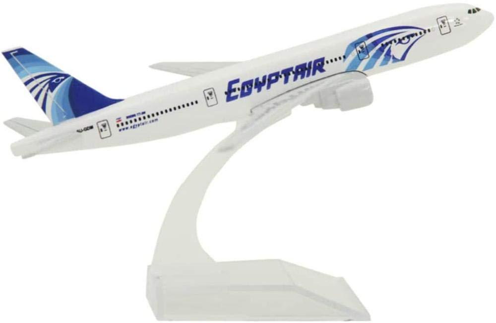Diecast Airplane Plane Model Plane Model Kits Boeing B777 Egypt Air16cm Metal Airplane Model