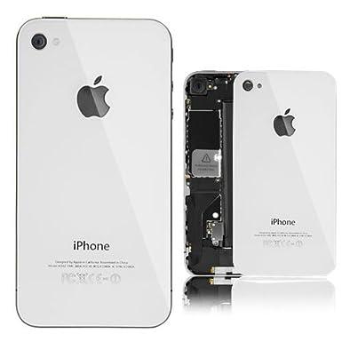 Tapa trasera para iPhone 4 (cristal, incluye logotipo de ...