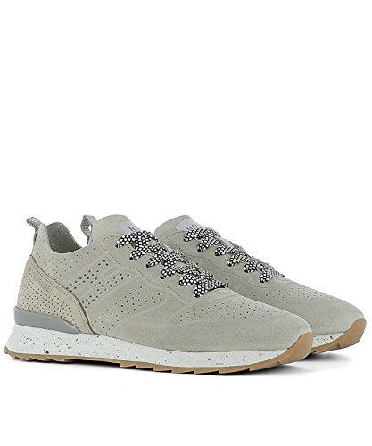 Hogan Rebel Herren HXM2610X030FNC0YP7 Beige/Grau Wildleder Sneakers