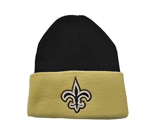 散歩に行く耳ベルベットリーボック チームカラー 折り返し ビーニー 帽子 NFL アメフト 冬 ニット帽 トーク帽 ブラック