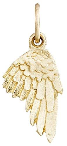 Helen Ficalora Angel Wing Mini Charm Yellow Gold