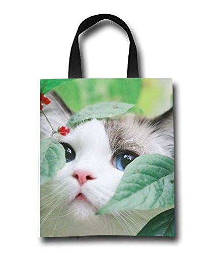 Cute Shorthair Beach Tote Bag - Toy Tote Bag - Large Lightweight Market, Grocery & Picnic by Linhong