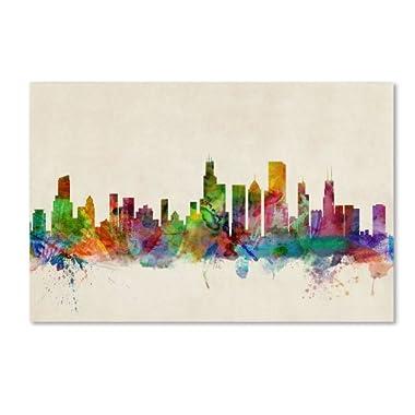 Trademark Fine Art Chicago, Illinois Canvas Wall Art by Michael Tompsett, 22 by 32-Inch