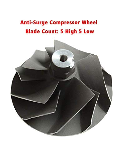 BLACKHORSE-RACING Powerstroke 7.3L Upgraded TP38 GTP38 Turbo Compressor Wicked Wheel Fit for Ford