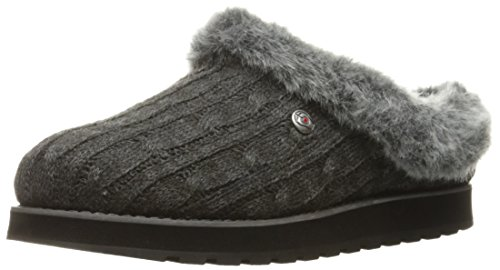 BOBS from Skechers Women's Keepsakes Ice Angel Slipper, Charcoal, 10 M US