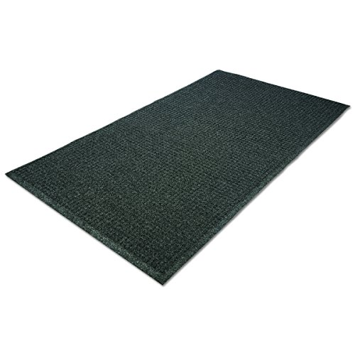 Guardian EcoGuard Indoor Wiper Floor Mat, Recycled Plastic and Rubber, 3' x 10', Charcoal by Guardian