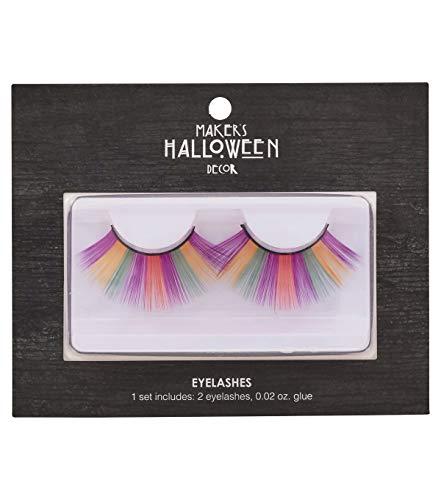 Makers Halloween Long Rainbow Costume Eyelashes with Glue -