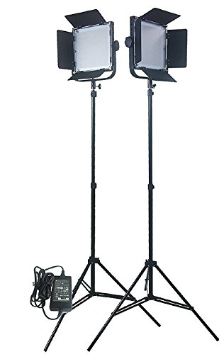 Fancierstudio 576 LED Light Panel Kit Video Lighting Kit Lighting Kit Two 576 LED Panels With 7ft Lightstand By Fancierstudio Fan576k2 by Fancierstudio
