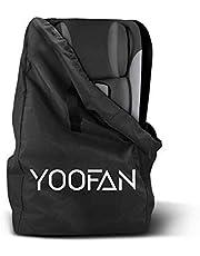 YOOFAN Bolsa de Transporte Protectora para Sillas para Coche, Bolso de Viaje para Cochecito Infantil - Resistente al Agua, Almacenamiento para Avión, Identificación Fácil en el Aeropuerto (Negro)