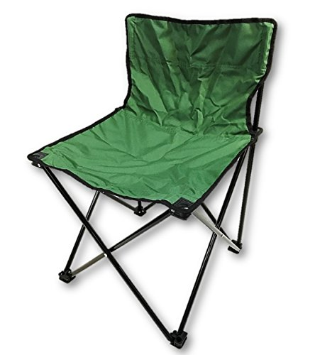Folding Beach/Camping Chair is Armless & Lightweight - with Carry Bag (Green)