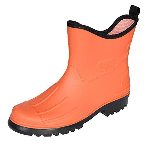 BOCKSTIEGEL® PETER Hombres - Cargadores del tobillo de goma (Tamaños: 41-48) naranja/negro