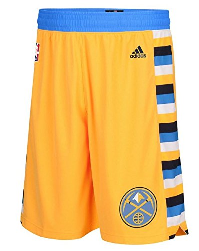 fan products of Denver Nuggets NBA Youth Team Alternate Gold Shorts (Youth Medium 10/12)
