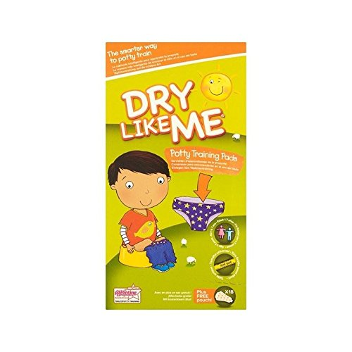 Dry Like Me Toilet Training Pads 18 per pack - Pack of 2