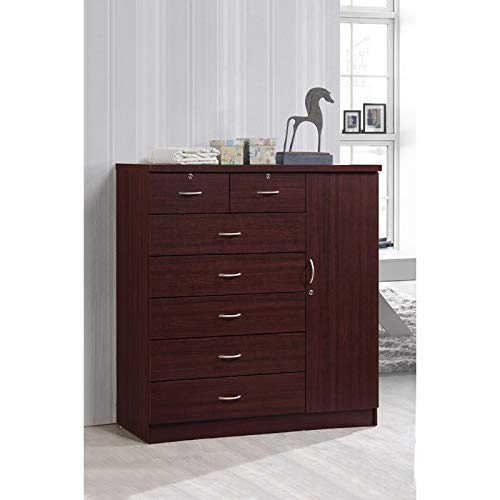 Manufactured Wood 7 Drawer Dresser - Contemporary Chest of Drawers Clother Storage Cabinet - Bedroom Large Dressing Organizer - Traditional Style Cabinet ()