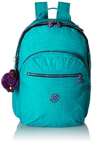 Kipling Seoul Backpack, Cool Turquoise Contrast Zip, One Size by Kipling