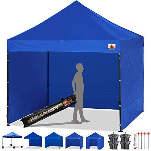 ABCCANOPY 8x 8 Ez Pop-up Canopy Tent Commercial Instant Tent with 4 Removable SideWalls and Roller Bag,Bonus 4 SandBags(Royal Blue)