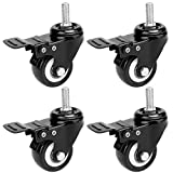 Fevas Office Chair Swivel Caster Wheels with with 1cm/ 0.39 inch Swivel 2.5cm/ 0.98 inch Lock Kit 4 Pack Black - (Size: one Size, Color: Black)