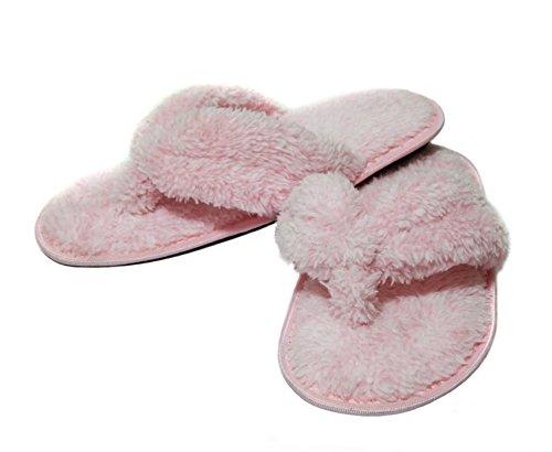Onmygogo - Zapatillas de estar por casa para mujer, color rosa, talla 39 EU