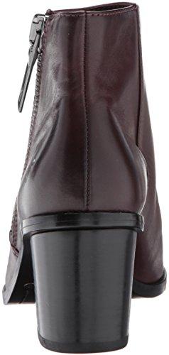 Frye Womens Brielle Zip Peep Bootie Boot Wine Polished Soft Full Grain