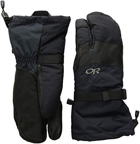 Outdoor Research Men's Highcamp 3-Finger Gloves, Black, ()