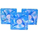 Apevia CF312SL-UBL 120mm UV Blue LED Cooling Fan (3 in 1 pack)
