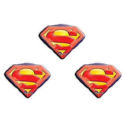 Anagram 26 Inch Superman Emblem Foil Balloons Package of 3 Balloons: Toys & Games