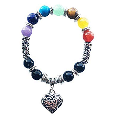 Price comparison product image TOPOB Fashion Women's Bracelet,  Beautiful Crystal Charm Colorful Heart Shape Pendant Hand Chain (B)