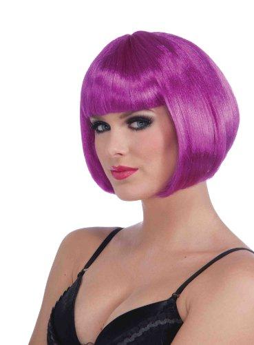 68227/85 (Neon Purple) Neon Short Bob Wig Neon Pageboy (Short Neon Purple Wig)