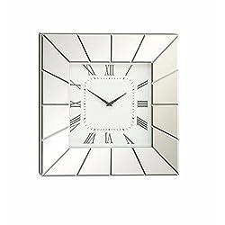 Deco 79 Wood Mirror Wall Clock 20W, 20H