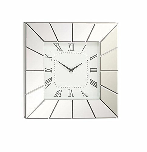 Deco 79 Wood Mirror Wall Clock - Geometric wall clock