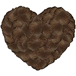 Neo LOONS 1000 Pcs Artificial Silk Rose Petals Decoration Wedding Party Color Brown