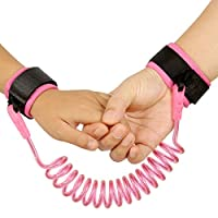 Baby Safety Harness Anti Lost Wrist Link Hotpai Strap Rope Backpack Leash Stop Losing for Toddlers, Baby & Kid (4.92 ft, Pink)