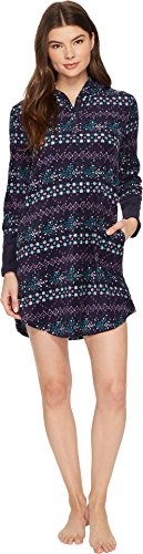 Lucky Brand Women's Printed Microfleece Hooded Lounger, Fair Isle, S from Lucky Brand