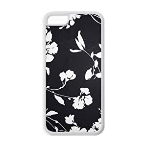 TYHde Black-White Flowers Iphone 5C Case, Customize Black-White Flowers Case for Iphone 5C ending