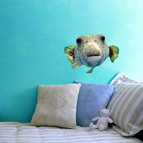 (Puffer Fish Wall Decal - 10.5